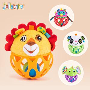 【每满100减50】jollybaby快乐宝贝6-12个月宝宝手抓球0-1岁婴儿玩具手摇铃布球