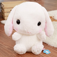 韩版可爱小兔兔双肩包软妹超萌毛绒背包卡通儿童小白兔子毛绒绒包