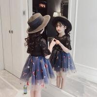 女童套装裙子新款夏装洋气时髦时尚两件套韩版潮衣中大童夏季