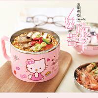 卡通儿童餐盒可爱大饭缸韩国保温快餐杯带盖学生不锈钢饭盒便当盒