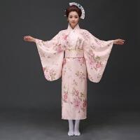 2018新款日式新款淑女气质日本樱花和服便正装时尚演出服浴衣民族睡衣表演服cos抖音同款