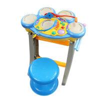 架子鼓音乐打击玩具带耳机话筒凳子玩具 1005A