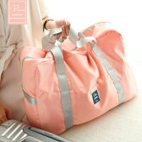 20180521030156618短途折叠包便携旅行袋防水行李包可套拉杆多功能大容量登机收纳袋