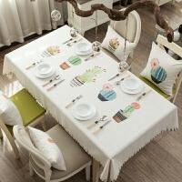 桌子茶几布桌垫餐桌布台布桌布布艺 棉麻小清新长方形田园北欧风 桌布130*210 1件