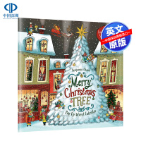 英文原版 圣诞树快到了日历 圣诞节礼物 儿童英语立体翻翻书 节日*书 Merry Christmas Tree Pop-