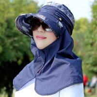 帽子女夏天户外出游帽遮阳帽大沿太阳帽遮脸折叠凉帽