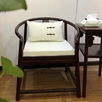 红木沙发坐垫新中式实木家具绣花坐垫新中式纯色椅垫实木椅圈椅茶椅椅子红木沙发家具坐垫刺绣定做logo