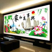 家和万事兴十字绣2米客厅新款十字绣家和万事兴仙鹤版系列钻石画