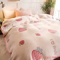 毛毯被子加厚冬季珊瑚绒毯子薄款夏季法兰绒床单人午睡毯 200cmX230cm 【-铺盖两用】