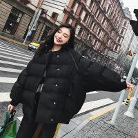 黑色短款两穿长袖马甲加厚面服棉衣女冬季新款韩版羽绒外套 黑色