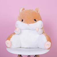 可爱龙猫仓鼠学生腰靠椅子护腰枕靠枕靠背靠垫汽车办公室抱枕