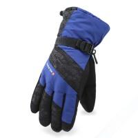 户外骑车滑雪加绒防寒手套 冬季防风手套 男女防滑羽绒棉厚保暖手套
