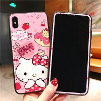 20190530094414689苹果iphone6plus钢化膜8全屏x卡通可爱6s手机壳前后7plus彩膜kt猫8