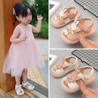 婴儿凉鞋1-2岁儿童夏季软底防滑小童公主鞋3女童宝宝鞋子学步鞋一