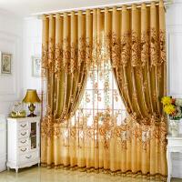 隔热窗帘成品简约现代欧式双层客厅窗帘全遮光布卧室落地窗公主风
