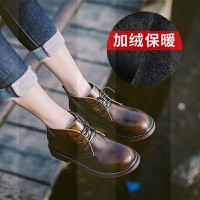 马丁靴女2018新款平底英伦风皮鞋雪地网红瘦瘦加绒女鞋短靴冬靴子SN1266