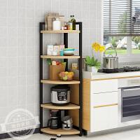 厨房夹缝置物架三角架转角冰箱缝隙收纳架拐角储物省空间多层锅架