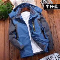 中老年棉衣男加绒加厚爸爸冬装外套老人袄冬季冲锋衣中年男士
