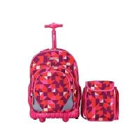 新款儿童拉杆书包中学生男女小学生拖杆书包双肩旅行背包护脊减负