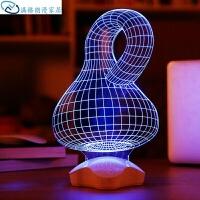 亚克力led小夜灯3D小台灯床头灯插电喂奶灯婴儿卧室睡眠灯创意生日礼物