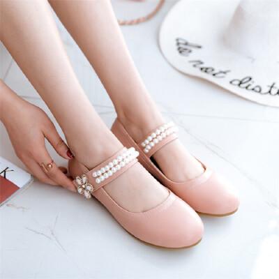 韩版儿童女童皮鞋子小女孩礼服平底鞋水晶公主单鞋演出舞蹈表演鞋