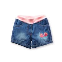 女童牛仔裤短裤 儿童宝宝裤子 春装夏装女孩童装