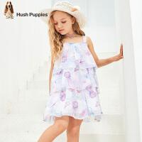 【预估券后价:116元】暇步士童装女童连衣裙夏装新款儿童吊带裙雪纺裙子中大童裙子
