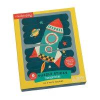 Transportation Puzzle Sticks 英文原版 条状拼图:交通工具 儿童启蒙益智玩具 进口礼品