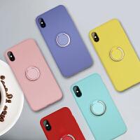 苹果x手机壳iPhonexsMAX液态硅胶指环8plus全包7p超薄XR防摔套女 苹果xsMAX 白色