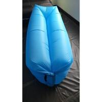 空气沙发懒人充气床单人便携野外充气床睡袋充气床垫 浅灰色 210D牛津布方头款