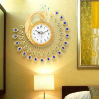 孔雀钟表挂钟客厅大创意时钟大气家用设计感欧式个性夜光静音挂表 20英寸(直径50.5厘米)