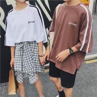 情侣装夏装2017新款韩版bf短袖t恤ulzzang学生宽松男女半袖上衣潮