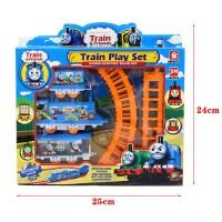 儿童玩具托马斯电动火车小火车头赛车轨道男孩玩具汽车套装轨道车