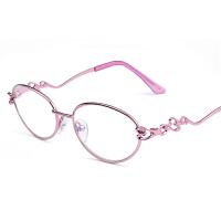 2018新品老花镜女时尚超轻防护眼镜眼镜电脑手机蓝光0 0 200 250 300 350度 粉红色 *品套装