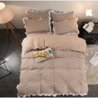 床上四件套棉质韩式卡通可爱学生棉质女生浪漫裸睡温馨双人床夏天