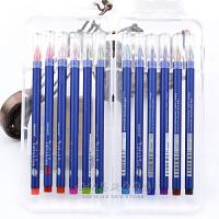慕娜美12色盒装 水性笔0.5mm彩色中性笔 2079钻石笔头 勾线笔 办公笔 12色装