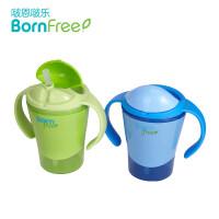 吸管杯 婴幼儿学饮杯宝宝喝水壶饮水防漏带手柄儿童水杯a218
