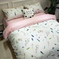 田园床上四件套纯棉 公主风床单被罩被套被单三件套床上用品