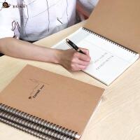 牛皮纸线圈本定制加厚B5螺旋A4康奈尔记事本东京大学笔记本子文具黄金三分笔记法本