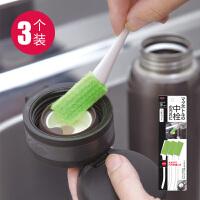 aisen日本软毛清洁刷保温杯缝隙刷便当饭盒清洁刷间隙刷洗杯刷3支