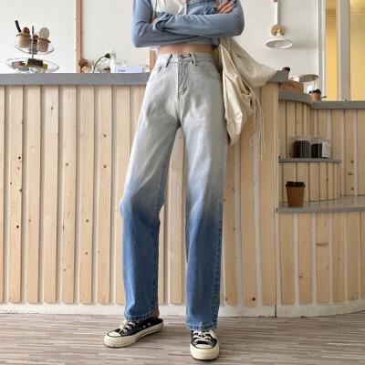 宽松牛仔裤女秋季韩版学生高腰显瘦百搭阔腿直筒裤今年流行的裤子