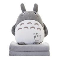 ?卡通午睡枕头汽车抱枕被子两用珊瑚绒腰靠枕靠垫空调被毯子多功能?
