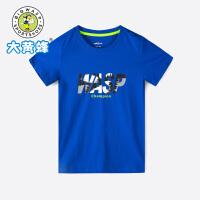 【1件5折后到手价:49元】大黄蜂男童装 儿童短袖T恤2019夏季新款男孩韩版印花上衣 男童T恤