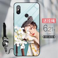 小米8手机壳定制Max3探索屏幕指纹青春版8se自定义6x玻璃镜面mix2s八play六paly私人