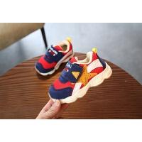学步鞋软底防滑宝宝鞋子1-3-5岁男童女童运动鞋儿童机能鞋棉鞋 红色 双网