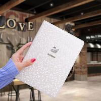 老款ipad2/3/4苹果平板电脑保护套piad mini1壳子9.7英寸壳ipab Air2外套l mni4白色天鹅