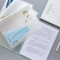 A4文件夹资料册40页小清新60页透明钢琴谱夹加厚插页袋试卷袋整理
