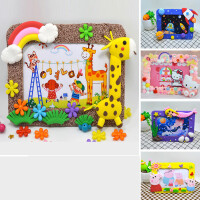 儿童手工制作材料包diy相框幼儿园国庆节创意礼物轻粘土益智玩具