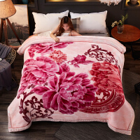 ???毛毯被子5D云毯双层绒毯加厚保暖婚庆毯子冬季睡毯结婚盖毯 200x230cm 8斤