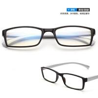2018新款男无度数防护电脑辐射眼镜女蓝光抗疲劳平面平光镜护眼平镜